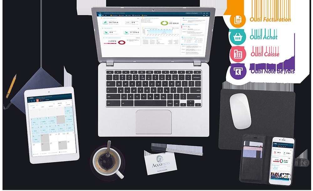 outils comptable au quotidien, caisse en ligne, outils de commerce