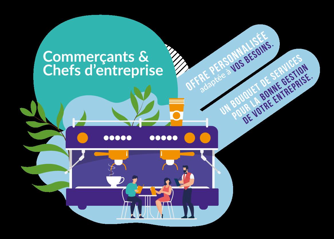pack commerçants et chefs d'entreprise, solution comptabilité, cabinet et finance d'entreprise