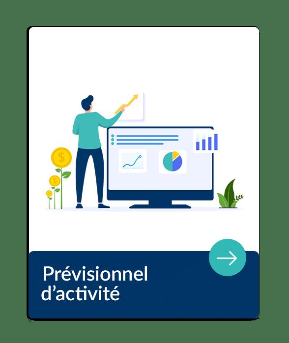 prévision d'activité d'une entreprise au niveau comptable